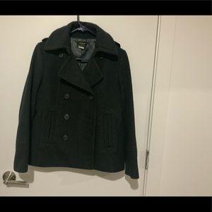 Jcrew charcoal grey pea coat